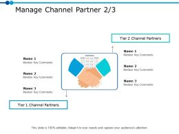 Manage Channel Partner 2 3 Ppt Powerpoint Presentation Gallery Show