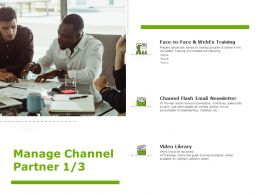 Manage Channel Partner Business Communication Ppt Powerpoint Presentation Model Example Introduction