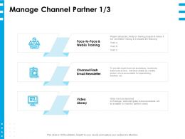 Manage Channel Partner Face Ppt Powerpoint Presentation Layouts Good