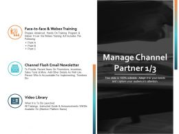 Manage Channel Partner Ppt Powerpoint Presentation File Clipart Images