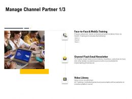 Manage Channel Partner Training Ppt Powerpoint Presentation Infographics Pictures