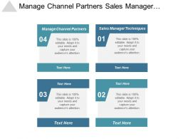 Manage Channel Partners Sales Manager Techniques Perfect Resume Template Cpb