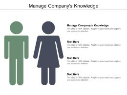 Manage Companys Knowledge Ppt Powerpoint Presentation Ideas Model Cpb