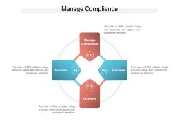 Manage Compliance Ppt Powerpoint Presentation Professional Grid Cpb