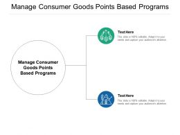 Manage Consumer Goods Points Based Programs Ppt Powerpoint Presentation Visual Aids Infographic Template Cpb