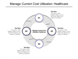 Manage Current Cost Utilization Healthcare Ppt Powerpoint Presentation Inspiration Background Designs Cpb