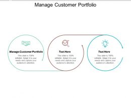 Manage Customer Portfolio Ppt Powerpoint Presentation File Gridlines Cpb