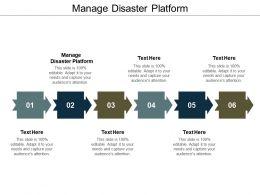 Manage Disaster Platform Ppt Powerpoint Presentation Slides Gridlines Cpb