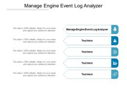 Manage Engine Event Log Analyzer Ppt Powerpoint Presentation Visual Aids Gallery Cpb