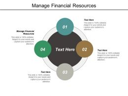 Manage Financial Resources Ppt Powerpoint Presentation Model Design Templates Cpb