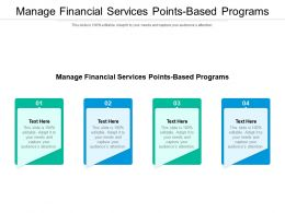 Manage Financial Services Points Based Programs Ppt Powerpoint Presentation Show Layouts Cpb