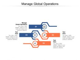 Manage Global Operations Ppt Powerpoint Presentation Icon Slide Cpb