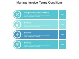 Manage Invoice Terms Conditions Ppt Powerpoint Presentation Pictures Elements Cpb