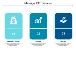 Manage IOT Devices Ppt Powerpoint Presentation Inspiration Samples Cpb