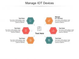 Manage IOT Devices Ppt Powerpoint Presentation Show Template Cpb