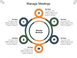 Manage Meetings Ppt Powerpoint Presentation Show Skills Cpb