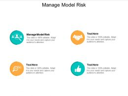 Manage Model Risk Ppt Powerpoint Presentation Infographics Grid Cpb