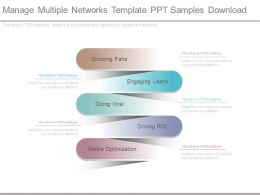Manage Multiple Networks Template Ppt Samples Download