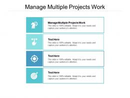Manage Multiple Projects Work Ppt Powerpoint Presentation Ideas Model Cpb