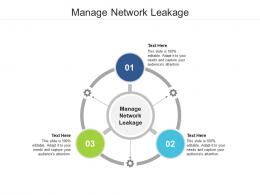 Manage Network Leakage Ppt Powerpoint Presentation Show Format Cpb