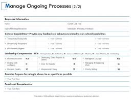 Manage Ongoing Processes Information Measuring Ppt Powerpoint Presentation Gallery Portfolio