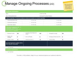 Manage Ongoing Processes Measuring Work Ppt Powerpoint Presentation File Show