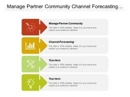 Manage Partner Community Channel Forecasting Lead Management Sales Training
