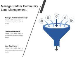 Manage Partner Community Lead Management Channel Strategy Development