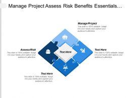 Manage Project Assess Risk Benefits Essentials Health Welfare