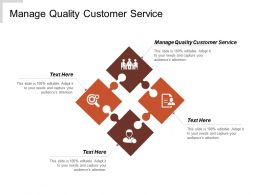 Manage Quality Customer Service Ppt Powerpoint Presentation Model Good Cpb