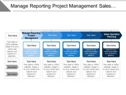 Manage Reporting Project Management Sales Operation Planning Track Trace
