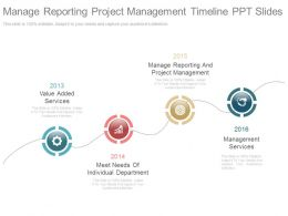 Manage Reporting Project Management Timeline Ppt Slides