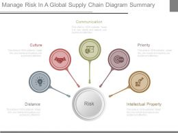 Manage Risk In A Global Supply Chain Diagram Summary