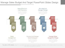 Manage Sales Budget And Target Powerpoint Slides Design