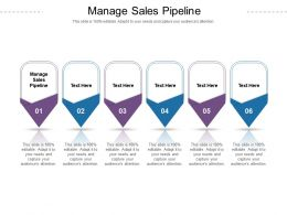 Manage Sales Pipeline Ppt Powerpoint Presentation Model Show Cpb