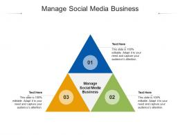 Manage Social Media Business Ppt Powerpoint Presentation Model Icons Cpb