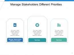 Manage Stakeholders Different Priorities Ppt Powerpoint Presentation Slides Inspiration Cpb