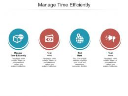 Manage Time Efficiently Ppt Powerpoint Presentation Portfolio Infographic Template Cpb
