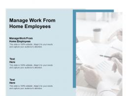 Manage Work From Home Employees Ppt Powerpoint Presentation Gallery Background Designs Cpb