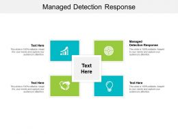 Managed Detection Response Ppt Powerpoint Presentation Ideas Graphics Template Cpb
