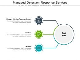 Managed Detection Response Services Ppt Powerpoint Presentation Infographics Icon Cpb