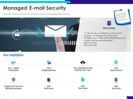 Managed E Mail Security Cloud Ppt Powerpoint Presentation Slides Layout Ideas