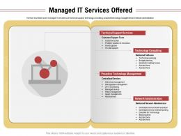 Managed It Services Offered Technology Management Ppt Powerpoint Presentation Icon