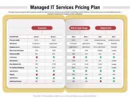 Managed It Services Pricing Plan Database Size Ppt Powerpoint Presentation Example File
