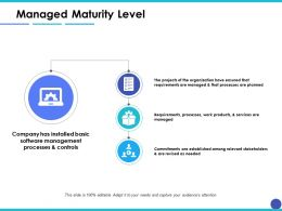 Managed Maturity Level Ppt Inspiration Example Introduction