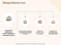 Managed Maturity Level Ppt Powerpoint Presentation Show Brochure