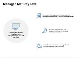 Managed Maturity Level Ppt Powerpoint Presentation Show