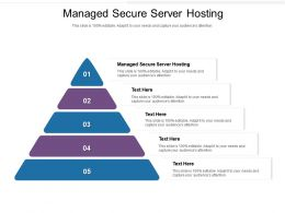 Managed Secure Server Hosting Ppt Powerpoint Presentation Model Visuals Cpb