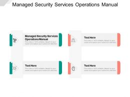 Managed Security Services Operations Manual Ppt Powerpoint Presentation Summary Cpb