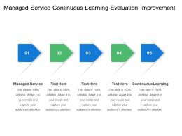 Managed Service Continuous Learning Evaluation Improvement Plan Network Analysis